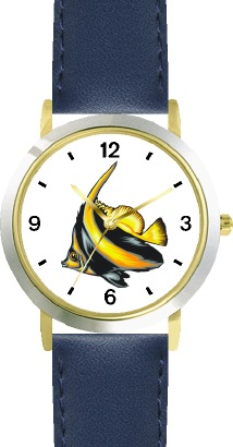 WatchBuddy Striped Black & Yellow Angel Fish Animal - WATCHBUDDY DLX 2-TONE THEME WATCH - Blue Strap-Kid's Size at Sears.com