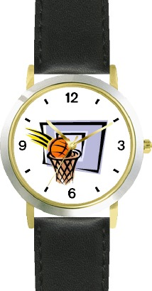 WatchBuddy Basketball, Hoop, Backboard, Swish Basketball Theme - WATCHBUDDY DLX 2-TONE THEME WATCH - Black Strap-Kid's Size at Sears.com