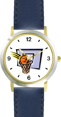 WatchBuddy Basketball, Hoop, Backboard, Swish Basketball Theme - WATCHBUDDY DLX 2-TONE THEME WATCH - Blue Strap-Kid's Size at Sears.com
