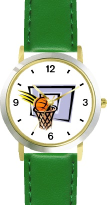 WatchBuddy Basketball, Hoop, Backboard, Swish Basketball Theme - WATCHBUDDY DLX 2-TONE THEME WATCH - Green Strap-Kid's Size at Sears.com