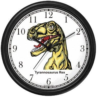 WatchBuddy Tyrannosaurus Rex - T Rex - Head Shot Dinosaur Animal Wall Clock by WatchBuddy Timepieces (Slate Blue Frame) at Sears.com